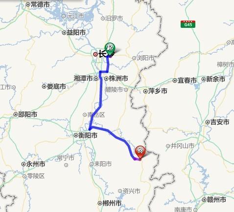 长沙机场到炎陵县租车